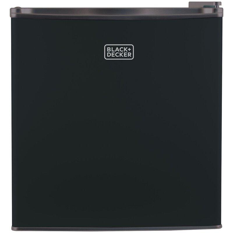 Black + Decker 1.7 cu. ft. Compact Refrigerator with Freezer