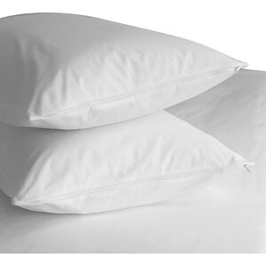 premium 400 thread count zippered pillow protector set of 2