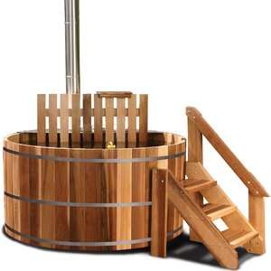 3-Person Wood Fired Cedar Hot Tub with Snorkel® Stove