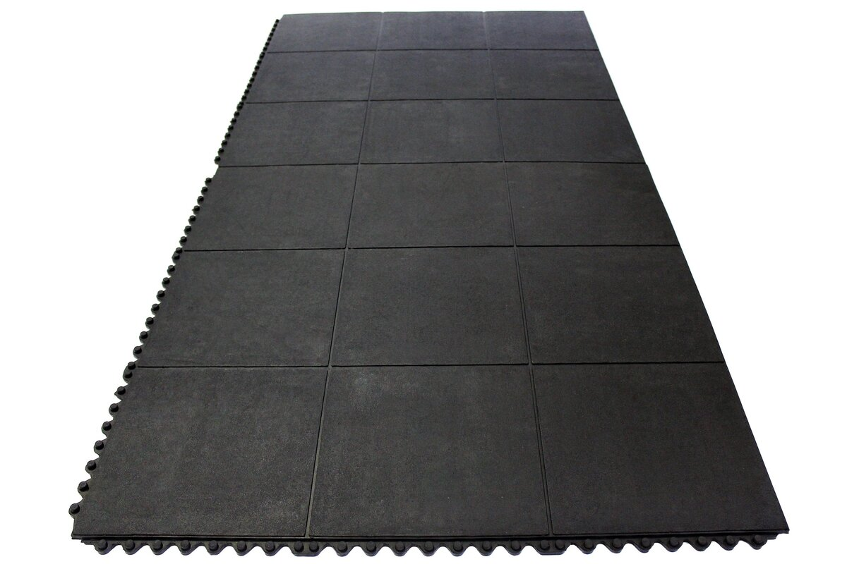 Envelor home anti fatigue heavy duty solid rubber floor tiles anti fatigue heavy duty solid rubber floor tiles utility mat doublecrazyfo Choice Image