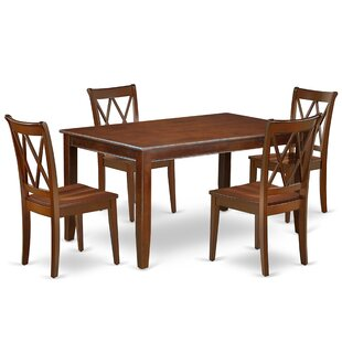 Konen 5 Piece Solid Wood Dining Set