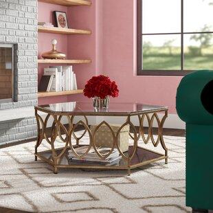 Hexagon Coffee Tables Youll Love Wayfair - Hexagon wood coffee table