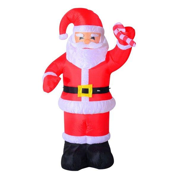 HomCom 8u0027 Indoor/Outdoor LED Inflatable Holiday Christmas Yard Decoration U0026  Reviews | Wayfair