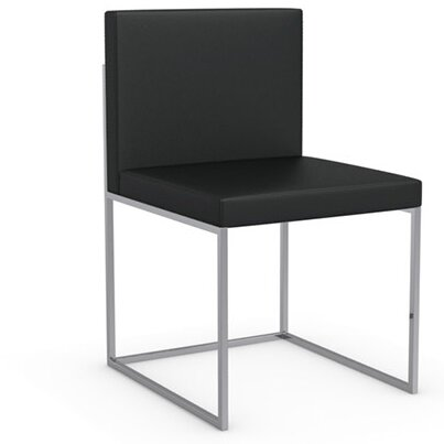 Even Plus Genuine Leather Upholstered Dining Chair