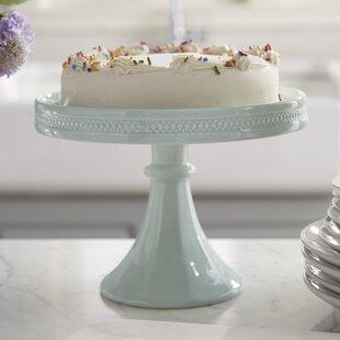 Decor Bon Hue Rimmed Pedestal Cake Stand