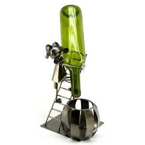 Man on Ladder 1 Bottle Tabletop Wine Rack by Three Star Im/Ex Inc.