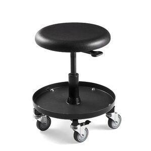 Bevco Height Adjustable Stool With Rubber Wheel Casters