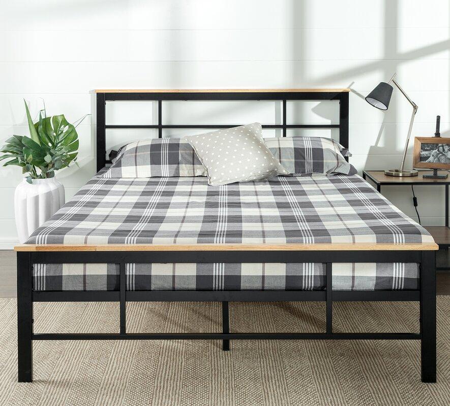 Urban Metal Wood Platform Bed. Zinus Urban Metal Wood Platform Bed   Reviews   Wayfair