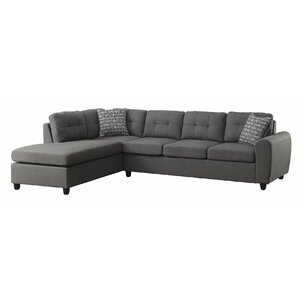 Reversible Sectional  sc 1 st  AllModern : leather sofa with chaise lounge - Sectionals, Sofas & Couches