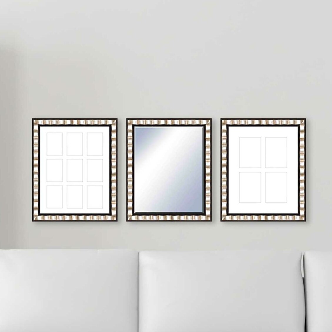 Ptm 3 Piece Francesca Frame And Wall Mirror Set Wayfair