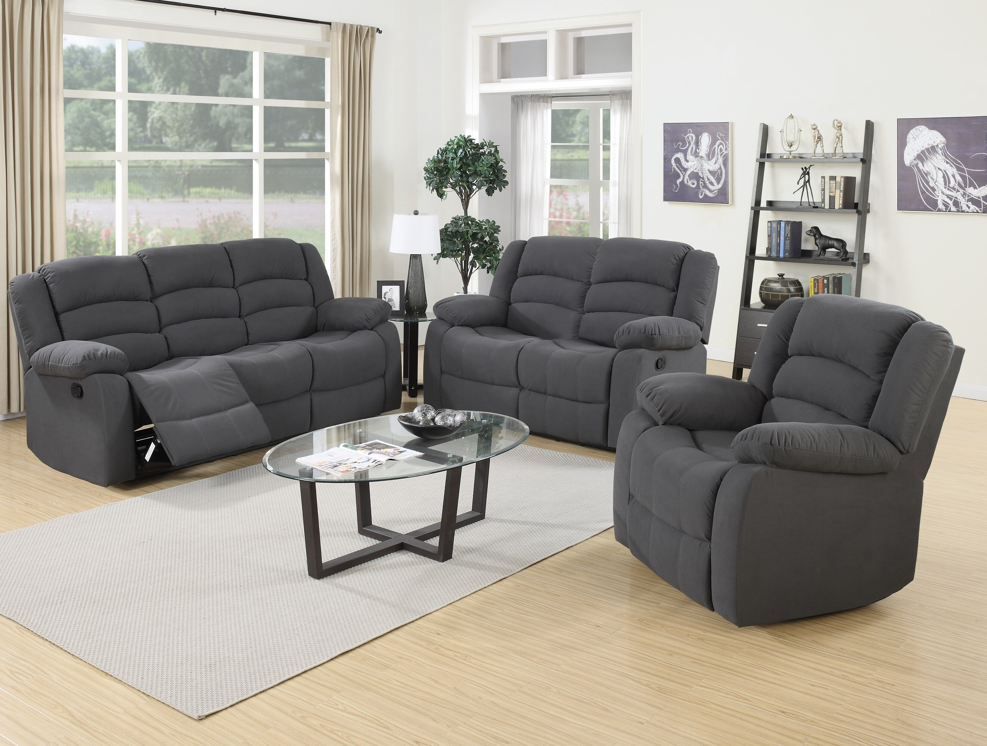 Bon Red Barrel Studio Mayflower Reclining 3 Piece Living Room Set U0026 Reviews |  Wayfair
