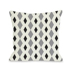 Diamond Dots Geometric Throw Pillow