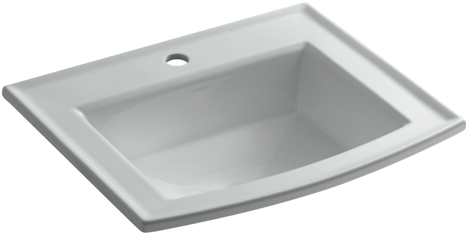 Archer Vitreous China Rectangular Drop-In Bathroom Sink with Overflow