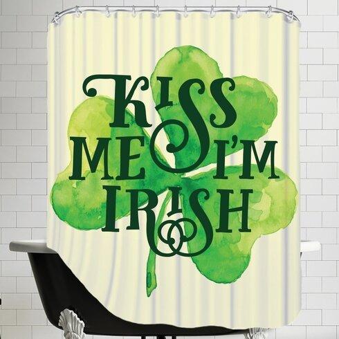 Kiss Me Im Irish Shower Curtain