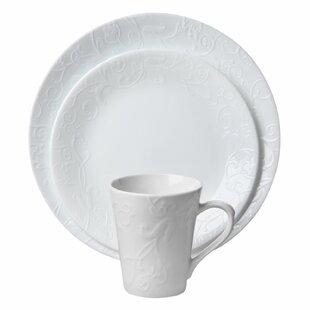 Corelle Embossed Bella Faenza 16-pc Dinnerware Set  sc 1 st  Wayfair & White Dinnerware \u0026 Dish Sets You\u0027ll Love | Wayfair