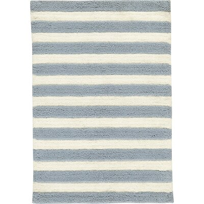 Birch Lane™ Heritage Serenity Handwoven Slate/Ivory Area Rug Rug Size: Rectangle 5' x 7'