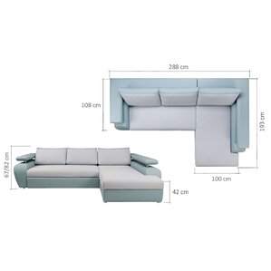 Kendall Sleeper Sectional by O..