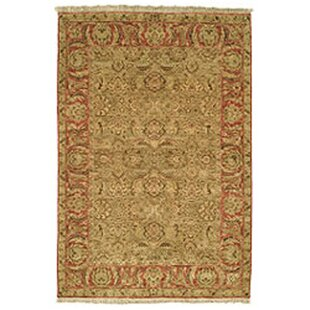 Old World Light Green Rust Area Rug
