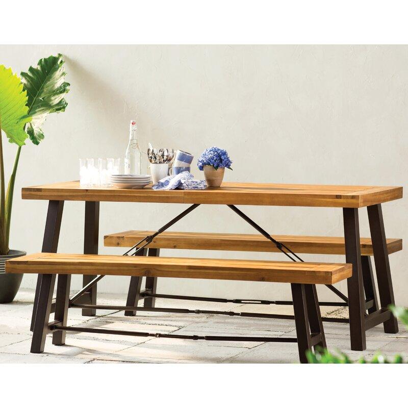 Trent Austin Design Benigna Piece Wood Picnic Table Reviews - Metal wood picnic table