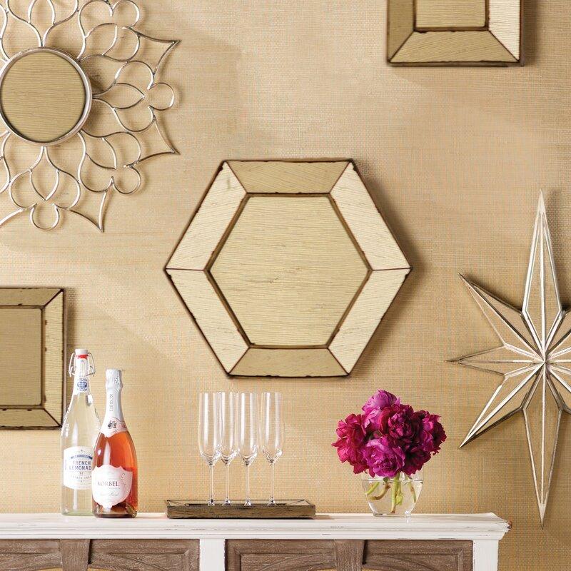 Gia Hexagon Accent Mirror & Reviews   Joss & Main