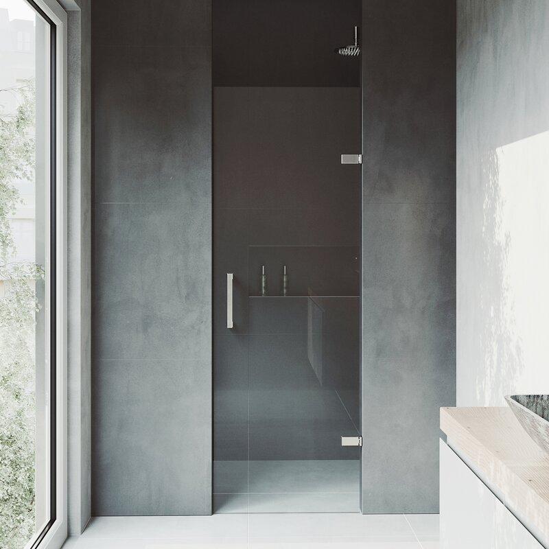 Vigo Soho 24 X 70 Hinged Frameless Shower Door Reviews Wayfair