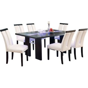 Haddonfield 7 Piece LED Dining Set. By Wade Logan