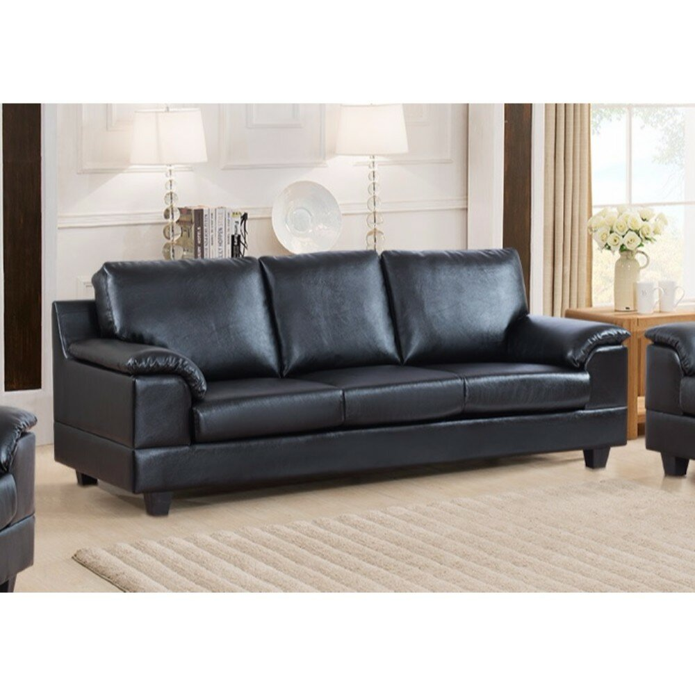 Latitude run driggers contemporary style sofa with velvety arm rest wayfair