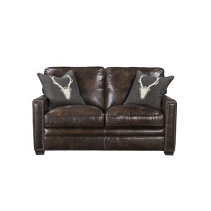 Andersonville Leather Loveseat by Foundry Se..