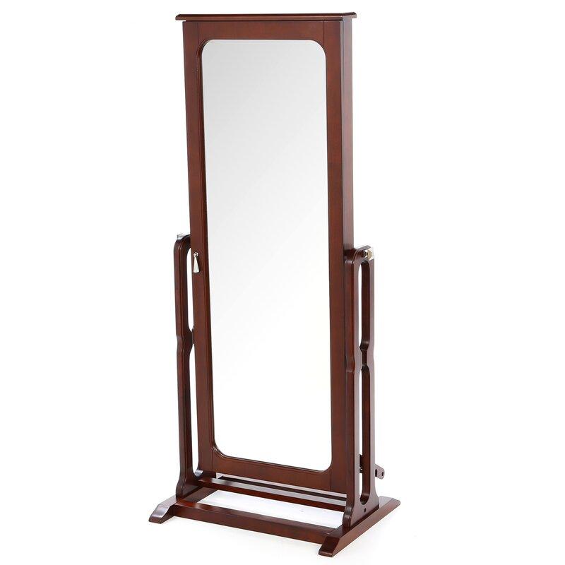 mirror armoire. gonson cheval jewelry armoire with mirror e