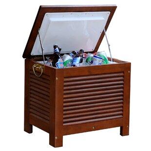 54.9 Qt. Outdoor Wooden Patio Cooler