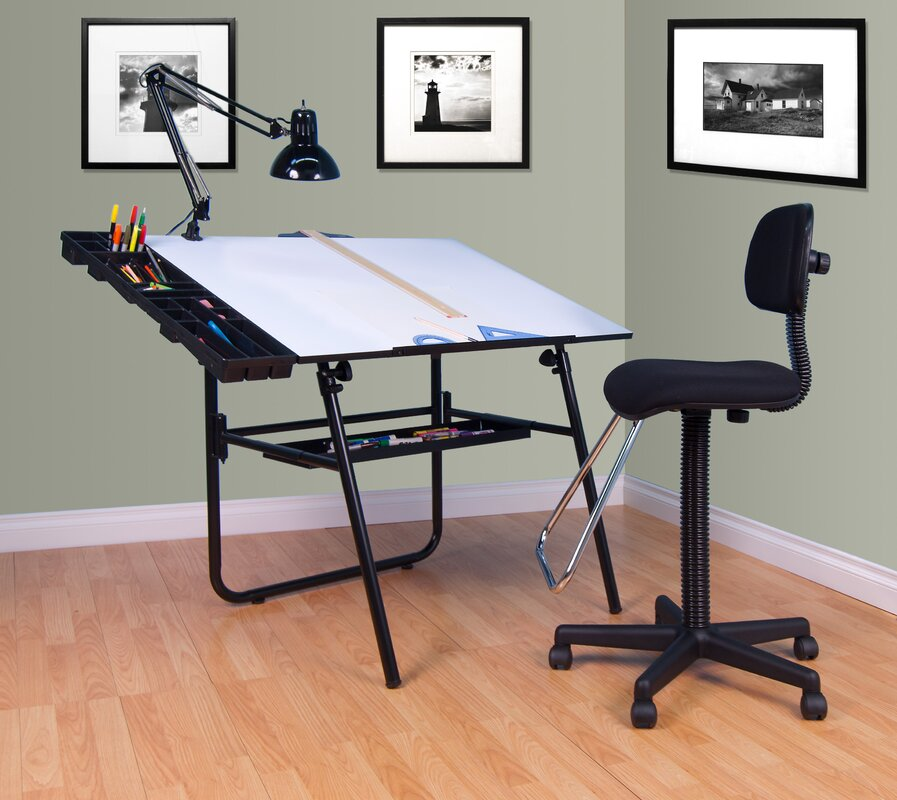4 Piece Table Set Part - 50: 4 Piece Ultima Drafting Table Set