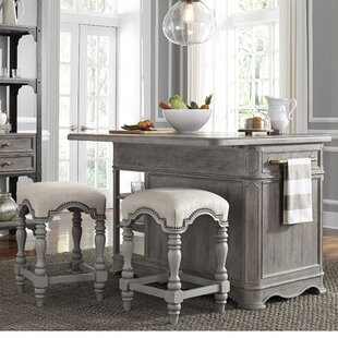 Artrip 3 Piece Kitchen Island Set