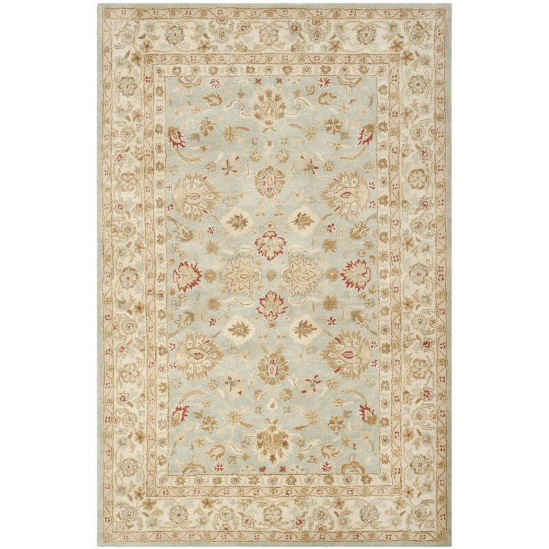 Charlton Home Otwell Gray/Blue/Beige Area Rug & Reviews