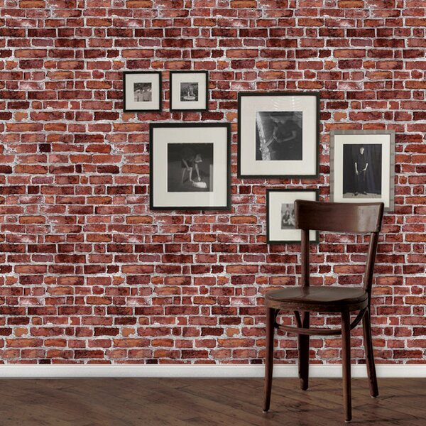 Simpleshapes 9 X 24 Brick L And Stick Wallpaper Roll Reviews Wayfair