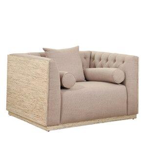 Chauntel Fabric Wood Barrel Chair by Willa Arlo Interiors