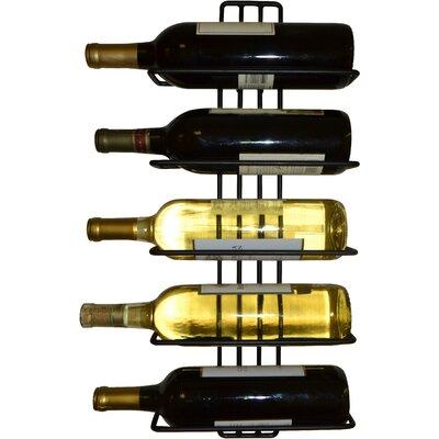Zipcode Design Williamstown 5 Bottle Wall Mounted Wine Rack