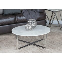 Stainless Steel/Marble Coffee Table