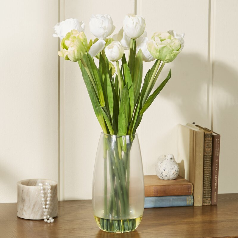 Nearly natural tulip with vase silk floral arrangements reviews tulip with vase silk floral arrangements mightylinksfo