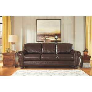 Ryan Industrial Leather Sofa by Trent Austin..