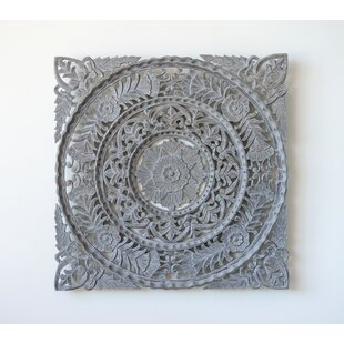 Baroque Hand Carved Wall Square Décor