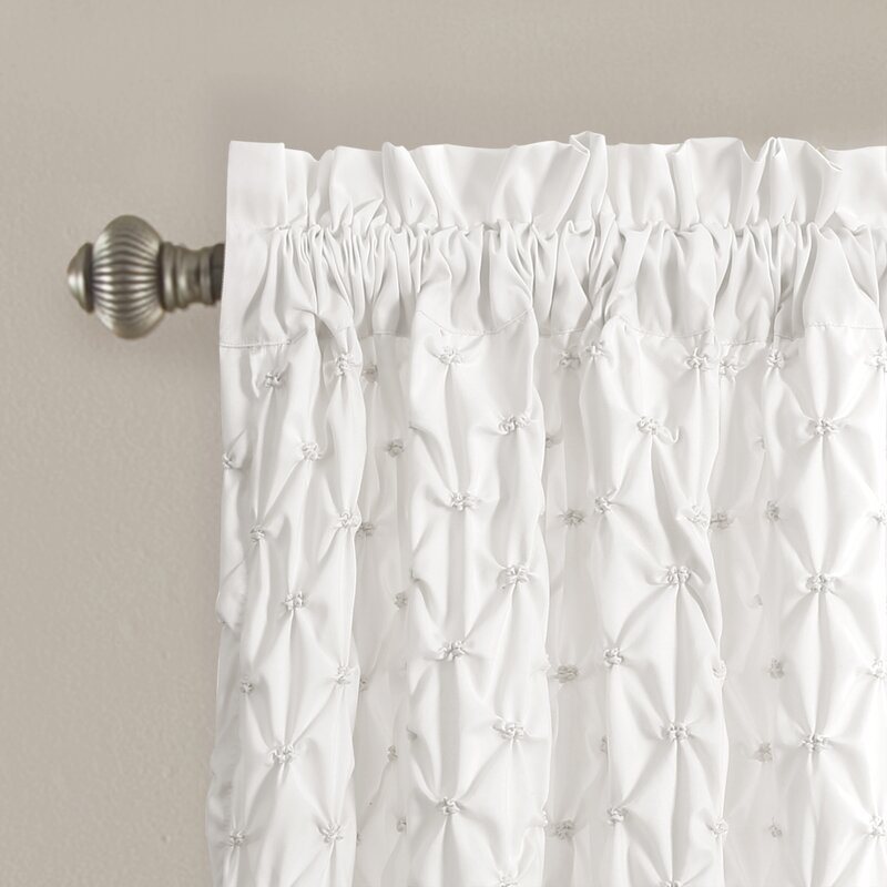 Elzira Solid Semi Sheer Thermal Rod Pocket Curtain Panels