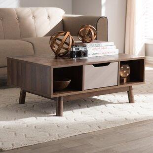 Mcm coffee table wayfair hilson mid century modern wood coffee table keyboard keysfo Image collections