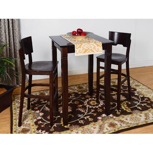 Eades Wood 3 Piece Pub Table Set