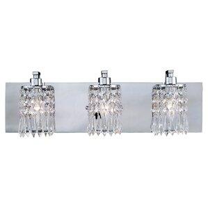 Bathroom Vanity Lights Crystal glam bathroom vanity lighting you'll love | wayfair