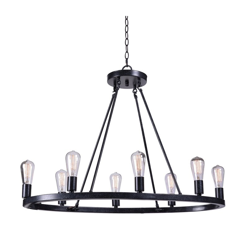 Wagon Wheel Light Chandelier: Charndon 8-Light Wagon Wheel Chandelier & Reviews