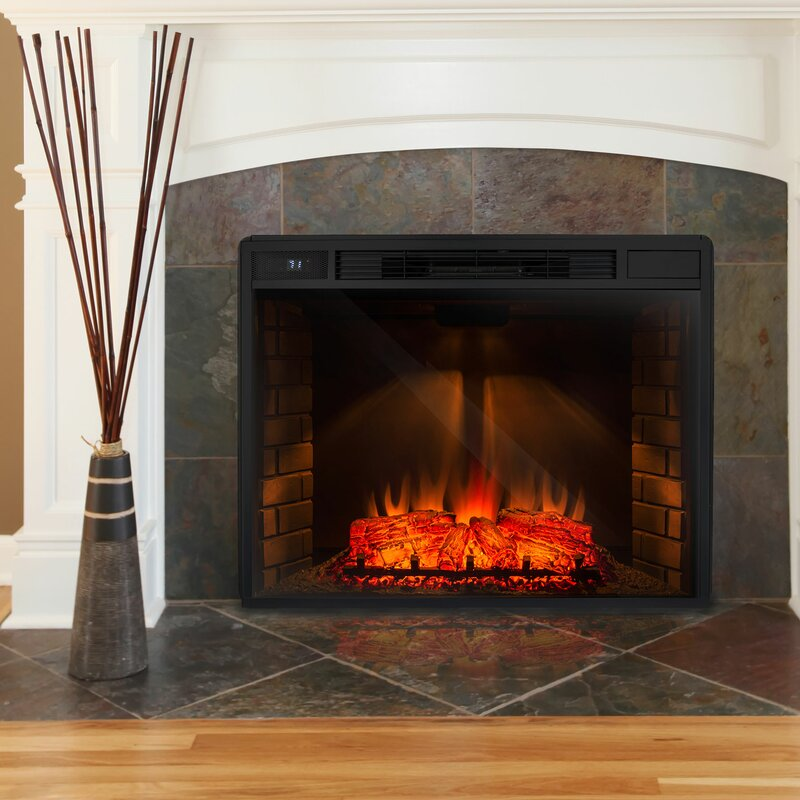 Lovely Electric Fireplace Freestanding Part - 9: Freestanding 3D Logs Flame Electric Fireplace Insert