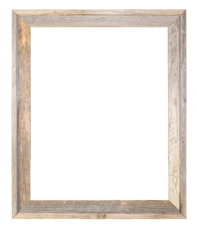 Rustic Reclaimed Barn Wood Open Picture Frame & Reviews | Joss & Main