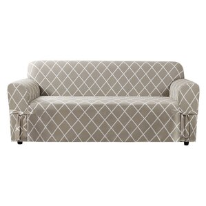 Lattice Box Cushion Sofa Slipcover by Sure Fit