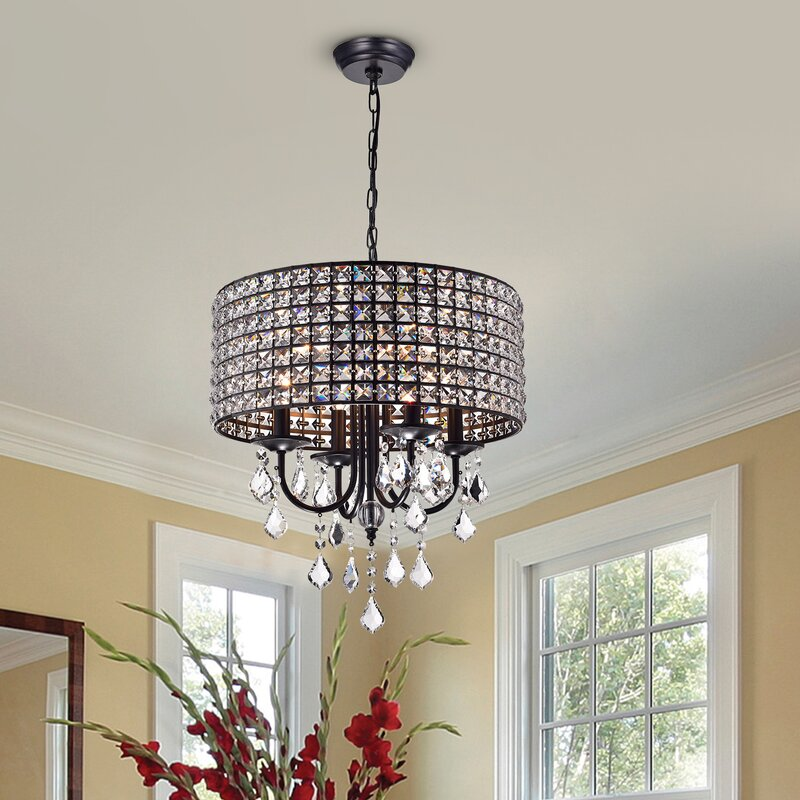 Albano 4 Light Crystal Chandelier Willa Arlo Interiors