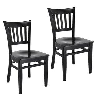 Jeske Slatback Solid Wood Dining Chair (Set of 2)